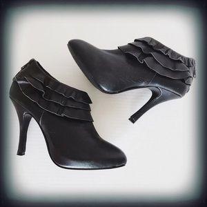 Kelsi Daggar Leather Ruffle Dorothy Bootie 8